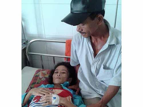 Bà Thủy trong thời gian điều trị tại Bệnh viện Đa khoa Đà Nẵng