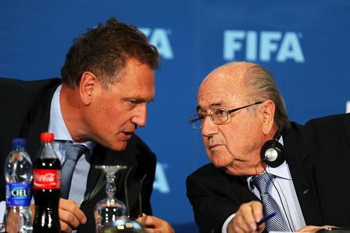Tổng thư ký Jerome Valcke là người thân tín của chủ tịch FIFA Sepp Blatter