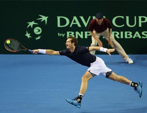 Murray vắt kiệt sức cho ba lượt đấu bán kết Davis Cup