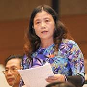 Đại biểu Quốc hội Lê Thị Nguyệt (Vĩnh Phúc):