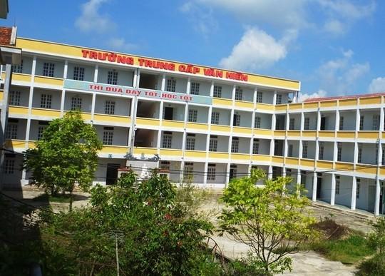Trường trung cấp Y Dược Văn Hiến, nơi xảy ra sự việc trên