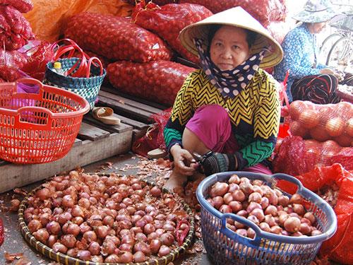 Hành củ nhập từ Trung Quốc tràn ngập các chợ đầu mối ở TP HCM