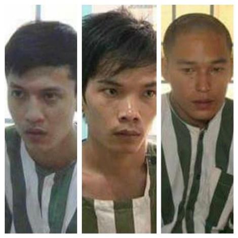 Dương, Tiến, Thoại (từ trái sang)