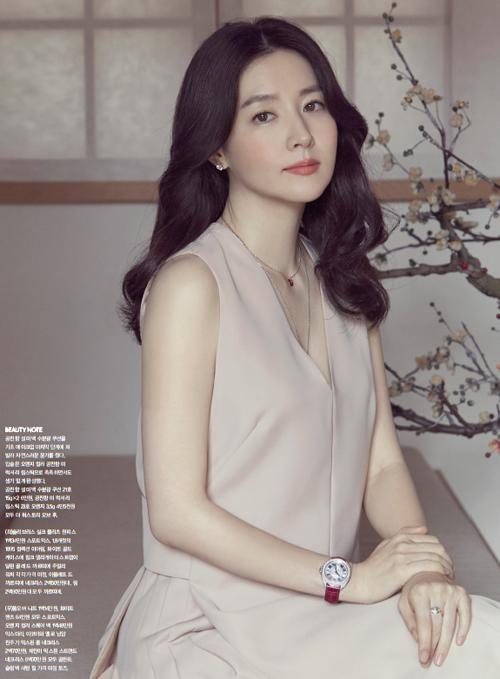 Hình ảnh tóc dài dịu dàng thường thấy của Young Ae trước công chúng trước đó