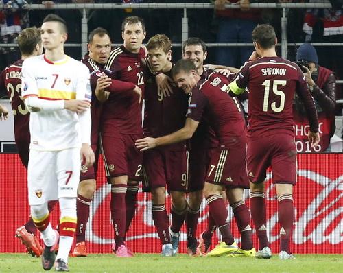 Tuyển Nga vui mừng khi giành vé dự VCK