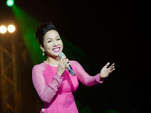 Ca sĩ Mỹ Linh tham gia trình diễn trong chương trình (ảnh do BTC chương trình cung cấp)