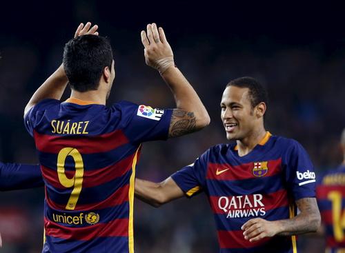 Neymar và Suarez đang có phong độ ghi bàn khủng khiếp