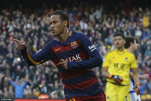 Neymar thi đấu rất thành công trong màu áo Barcelona