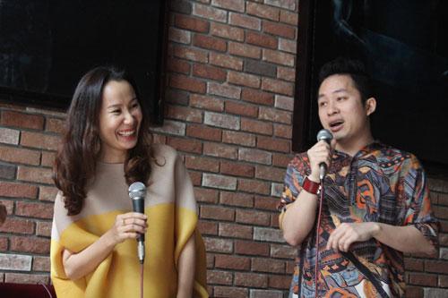 """Nhạc sĩ Giáng Son và ca sĩ Tùng Dương trong ngày ra mắt album """"The shadow of jazz"""""""