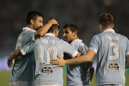 Nolito (10) thi đấu rất hay tại Celta Vigo