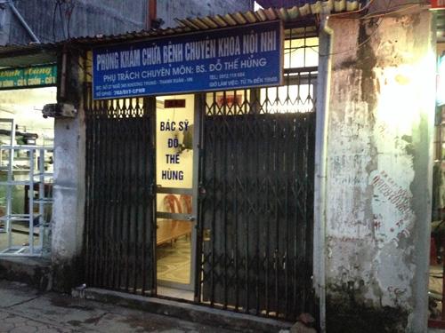 Phòng khám tư nơi nam bệnh nhân 65 tuổi tử vong - Ảnh: Nguyễn Hưởng