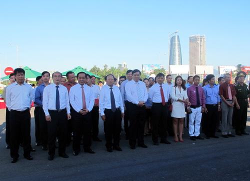 Đại diện lãnh đạo bộ, ngành và thành phố Đà Nẵng tham dự lễ khởi động đồng hồ đếm ngược ABG 5