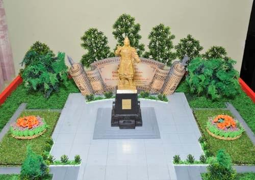 Phác thảo không gian tượng đài Quang Trung ở ĐH Quốc gia TP HCM.