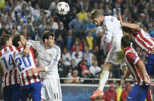 Ramos gỡ hòa 1-1 trong 90 phút cho Real Madrid ở trận chung kết năm 2014