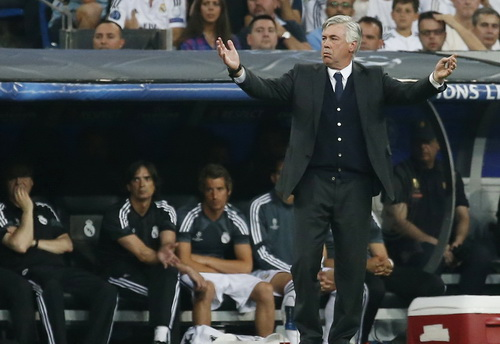 Carlo Ancelotti khi còn dẫn dắt Real Madrid