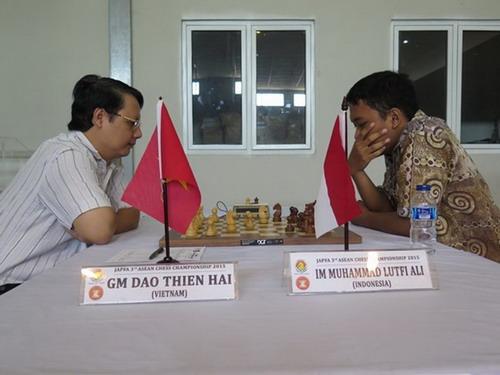 Kỳ thủ Đào Thiên Hải xếp thứ nhì chung cuộc sau học trò Anh Khôi