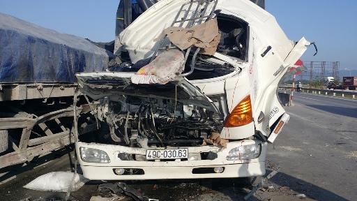 Hiện trường vụ tai nạn nghiêm trọng - Ảnh: Anh Đức