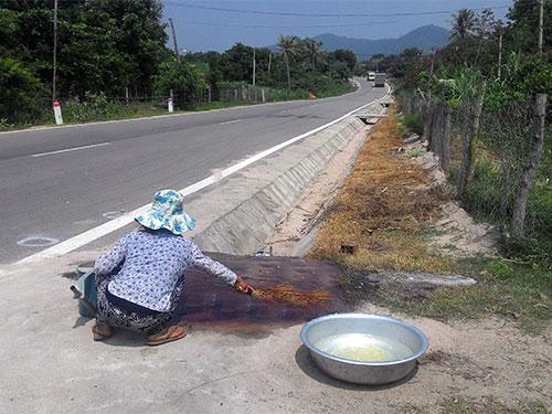 Vị trí nơi trung úy Nay Plong được phát hiện tử vong