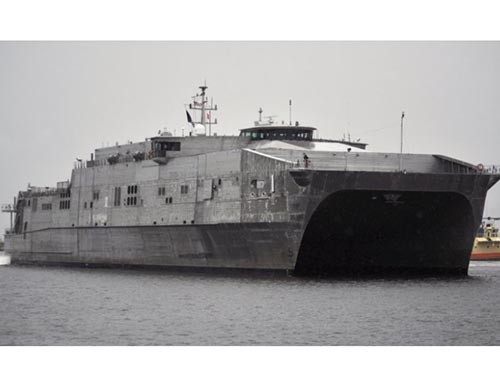 Tàu cao tốc USNS Millinocket của Mỹ tham gia tập trận chống cướp biển  với 6 nước Đông Nam Á từ ngày 5-10. Ảnh: Hải quân Mỹ