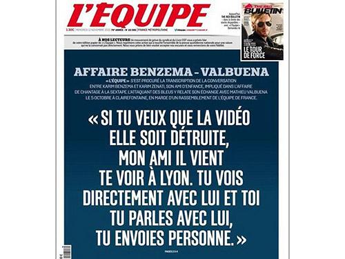 Theo báo L'Equipe, Benzema có vai trò nhất định trong vụ tống tiền ValbuenaẢnh: Daily Mail