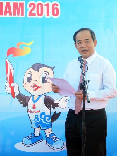 Thứ trưởng Bộ VH-TT-DL Lê Khánh Hải đọc diễn văn khai mạc