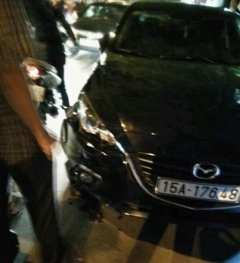 Chiếc xe điên Mazda 6 màu đen gây tai nạn liên hoàn khiến 8 người bị thương