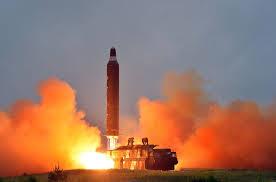 Tên lửa tầm trung Musudan của Triều Tiên. Ảnh: KCNA
