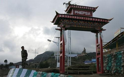 Một doanh trại quân đội ở Aruchanal Pradesh. Ảnh: Bloomberg