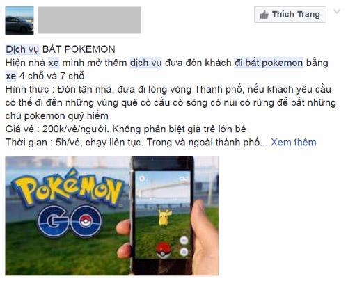 Muôn kiểu kiếm tiền ăn theo Pokemon Go