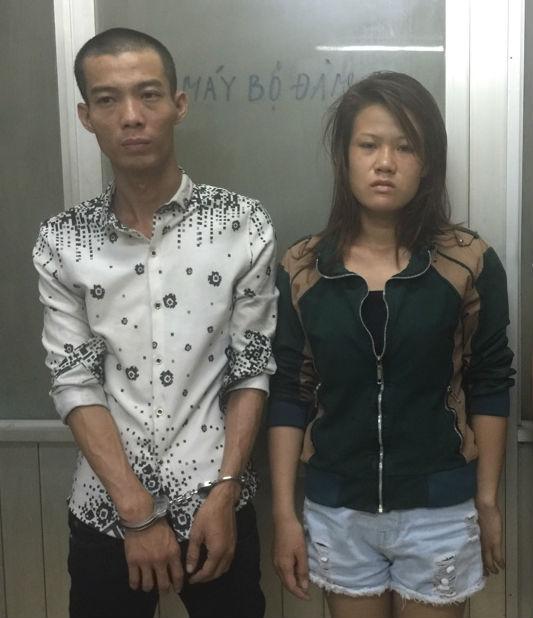 Chân dung cặp đôi cướp giật điện thoại di động tại cơ quan công an.