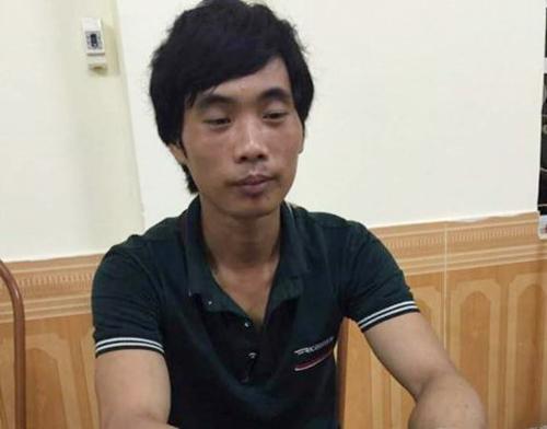 Nghi phạm Tần Láo Lở tại cơ quan công an - ảnh: CTV