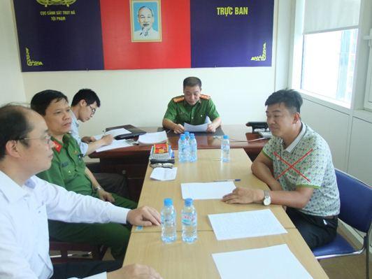 Đối tượng truy nã Chen Jian Zhong (X) tại Cơ quan Công an Việt Nam