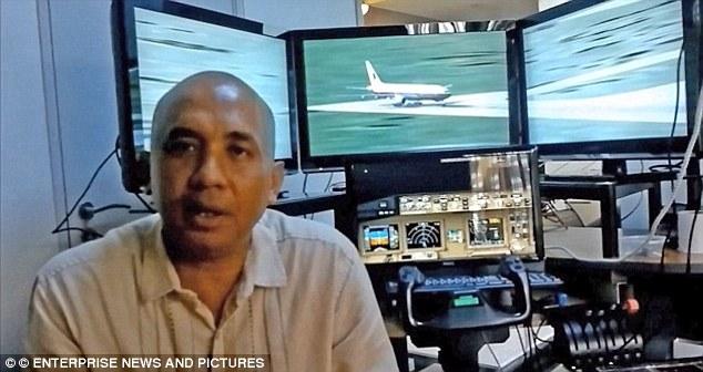 Cơ trưởng Zaharie Ahmad Shah đã thực hành rơi ở Ấn Độ Dương trong một chương trình mô phỏng vài tuần trước khi MH370 biến mất. Ảnh: Daily Mail
