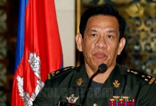 Người phát ngôn Bộ Quốc phòng Campuchia, Đại tướng Chhum Socheat. Ảnh: Thecambodiaherald.com
