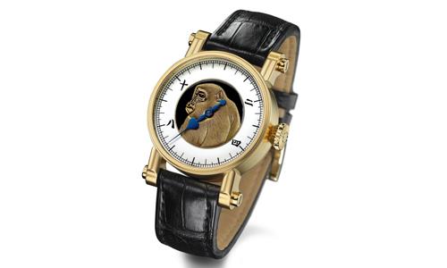 Chiếc đồng hồ có hình ảnh chú khỉ tuyết tạo hiệu ứng 3D có giá 100.000 USD, xấp xỉ 2,3 tỉ đồng.