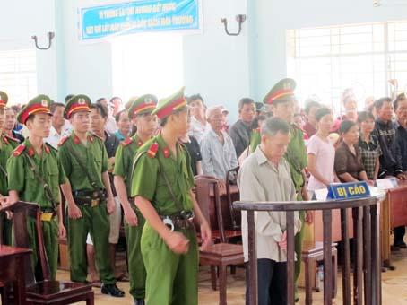 Bị cáo Đặng Văn Thanh tại tòa.