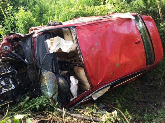 Chiếc xe bị hư hỏng nghiêm trọng sau tai nạn