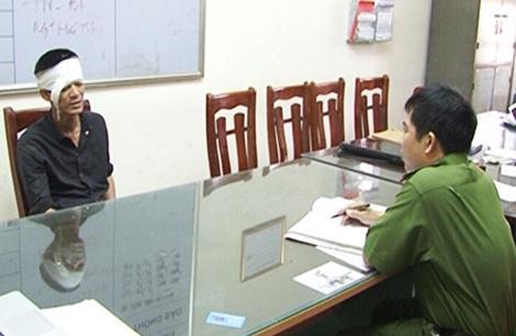 Hà Minh Thành tại cơ quan Công an.