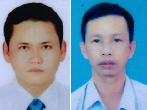 Trần Văn Tam và Tạ Văn Thảo.