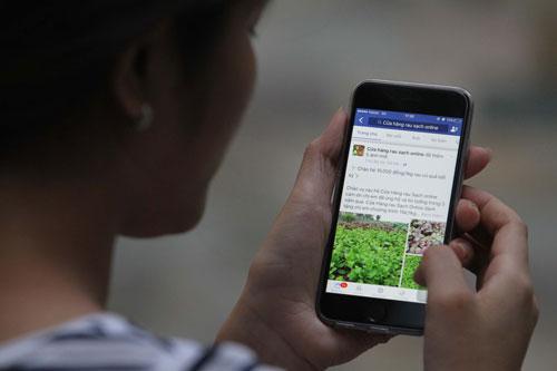 Mua thực phẩm trên mạng đã trở thành thói quen của nhiều người ở TP HCM. Ảnh: Hoàng Triều