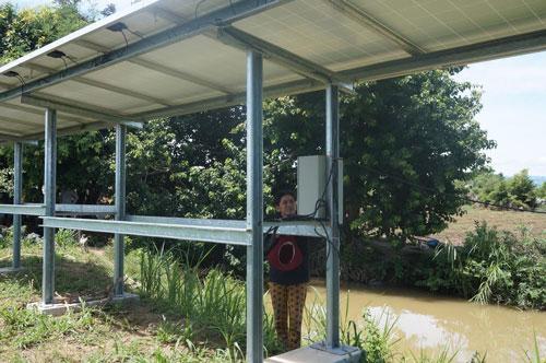 Hệ thống năng lượng mặt trời để bơm nước ở xã Quảng Sơn, huyện Ninh Sơn, tỉnh Ninh Thuận