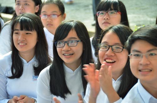 Học sinh Trường THPT chuyên Lê Hồng PhongẢnh: TẤN THẠNH