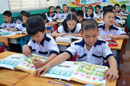 Một giờ học tiếng Anh của học sinh tại TP HCM Ảnh: TẤN THẠNH