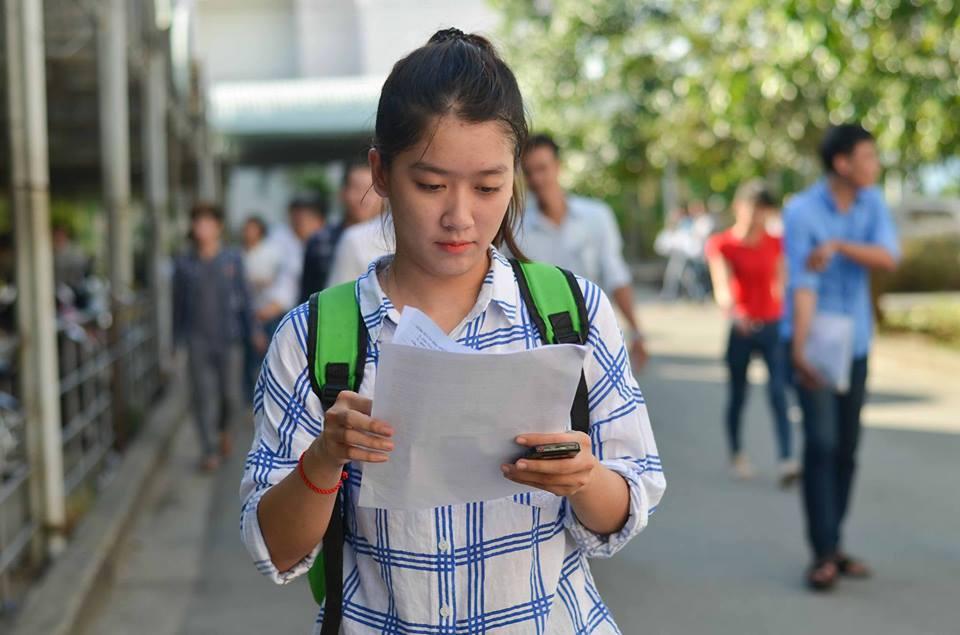 Thí sinh tham dự kỳ thi THPT Quốc gia 2016 tại TP Đà Nẵng