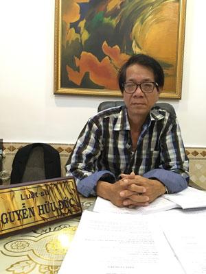 Luật sư Nguyễn Hữu Đức đại diện pháp lý cho gia đình họa sĩ Tạ Tỵ