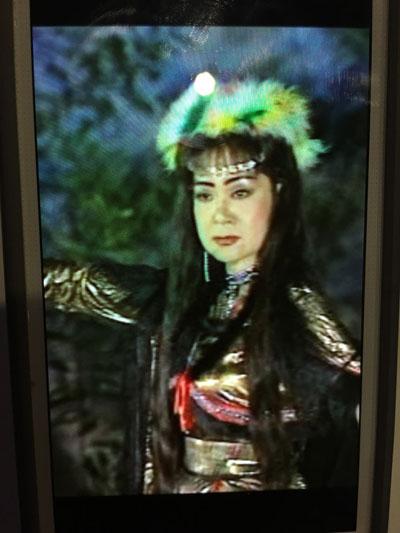 """NSƯT Mỹ Châu trong vai A Khắc Thiên Kiều (vở """"Người tình trên chiến trận"""") - vai diễn nổi tiếng của bà trước 1975 Ảnh: Tấn Hùng"""
