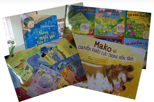"""Những sách thiếu nhi đáng đọc: """"Những ngôi sao trên bầu trời thành phố"""", """"Mako và chuyến phiêu lưu trong bồn tắm"""", bộ sách """"̀ 10 chú ếch""""..."""