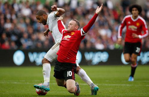 Ba lần gần nhất gặp Swansea, M.U của Rooney đều trắng tay Ảnh: REUTERS