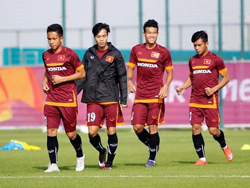 Các cầu thủ U23 Việt Nam đang sung sức chờ trận ra quân gặp U23 Jordan Ảnh: EURO