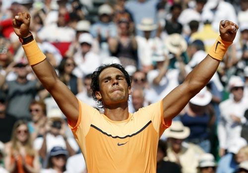 """Nadal lấy lại phần nào uy danh của """"vua sân đất nện"""" Ảnh: REUTERS"""